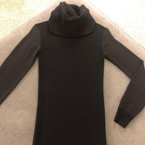 All Saints Cowl Neck Sweater Dress in Black